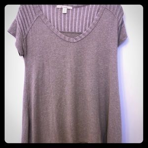 Short sleeve fawn brown knit Miami top XS